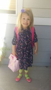 Phoebe first day of school