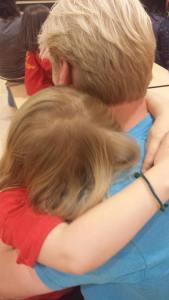 Phoebe hug